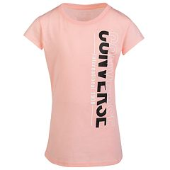 Girls 7-16 Converse Vertical Split Short Sleeve Tee