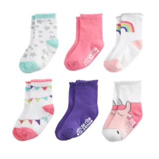 Baby / Toddler Girl Stride Rite 6-pack Crew Socks