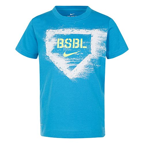 "Boys 4-7 Nike ""BSBL"" Home Plate Graphic Tee"