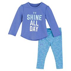 Baby Girl Under Armour 'Shine All Day' Tee & Space-Dye Leggings Set