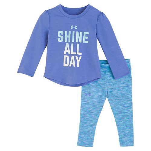 "Baby Girl Under Armour ""Shine All Day"" Tee & Space-Dye Leggings Set"
