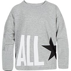 Girls 7-16 Converse Chuck Taylor All Star Oversized Long Sleeve Top
