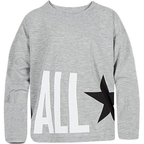 Girls 7-16 Converse Chuck Taylor All Star Oversized Long Sleeve Top