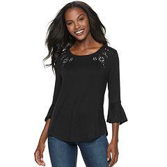 Women's Apt. 9® Printed Bell Sleeve Top