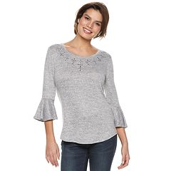 Women's Apt. 9® Printed Bell Sleeve Top