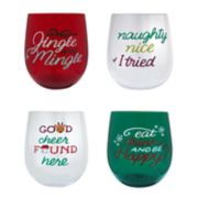 St. Nicholas Square® 4-pc. Sentiment Wine Glass Set