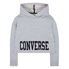 Girls 7-16 Converse Collegiate Cropped Pullover Hoodie