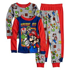 Boys 4-10 Super Mario Bros. 4-Piece Pajama Set