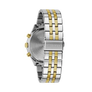Caravelle Men's Two Tone Stainless Steel Chronograph Watch - 45A143