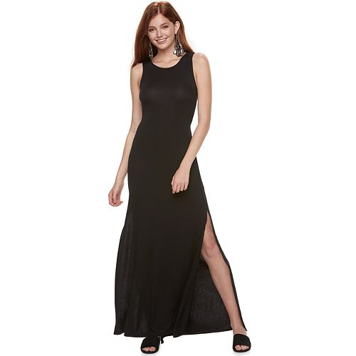 Juniors' Love, Fire Twist-Back Maxi Dress