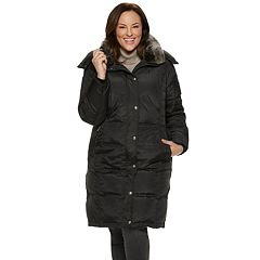 Plus Size TOWER by London Fog Faux-Fur Collar Down Puffer Coat