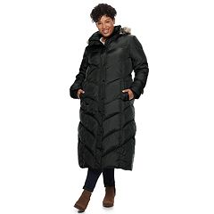 Plus Size TOWER by London Fog Faux-Fur Long Down Puffer Coat