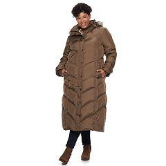 Plus Size TOWER by London Fog Faux-Fur Long Down Puffer Coat