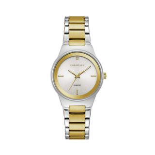 Caravelle Women's Diamond Accent Two Tone Stainless Steel Watch - 45P108