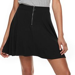 Juniors' SO® Zip Front Skater Skirt