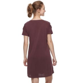 Juniors' Mudd® Lace-Up Shoulder Dress