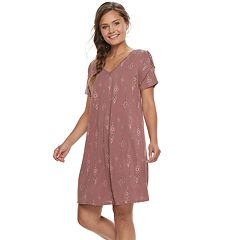 Juniors' Mudd® Lace-Up Shoulder Dress