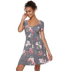 Juniors' SO® Button Front Short Sleeve Dress