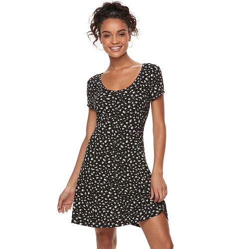 d379be8ad14 Juniors  SO® Button Front Short Sleeve Dress