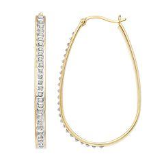 Diamond Mystique Oval Hoop Earrings