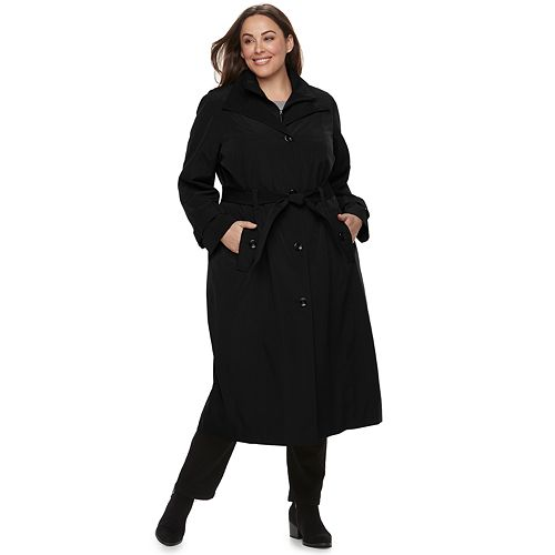 cd6fb71caec50 Plus Size TOWER by London Fog Belted Trench Coat