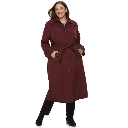 Plus Size TOWER by London Fog Belted Trench Coat