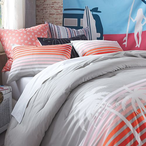 Hang Ten Sunset Stripe Duvet Cover Set