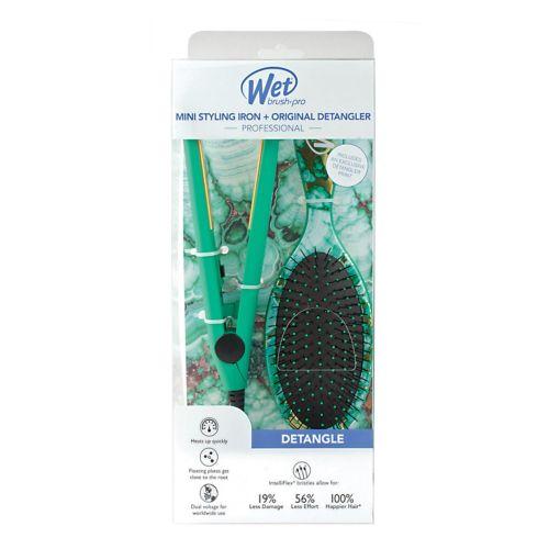Wet Brush Mini Styling Iron & Original Detangler Hair Brush Set by Kohl's