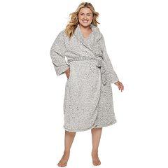 Plus Size SONOMA Goods for Life™ Textured Plush Wrap Robe