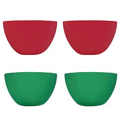 St. Nicholas Square® 4-pc. Solid Red & Green Bowl Set