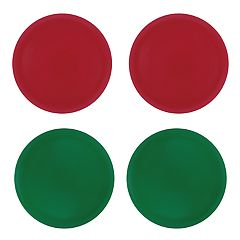 St. Nicholas Square® 4-pc. Solid Red & Green Plate Set