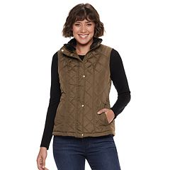 Women's Weathercast Faux-Fur Lined Quilted Vest
