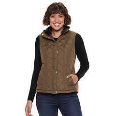 b35f19df7cbb8 Women s Weathercast Faux-Fur Lined Quilted Vest