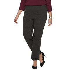 Plus Size Dana Buchman Pull-On Mid-Rise Pants