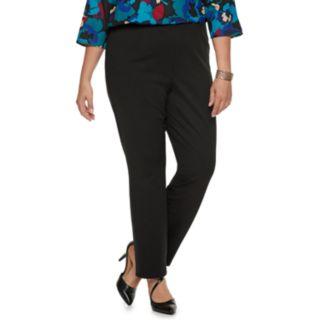 Plus Size Dana Buchman Pull-On Mid-Rise Pants