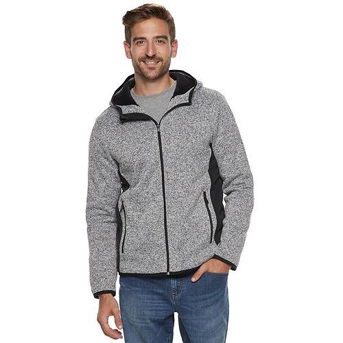 Mens Apt 9 Sherpa Lined Sweater Fleece Hooded Jacket