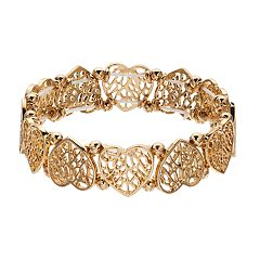 LC Lauren Conrad Filigree Heart Stretch Bracelet