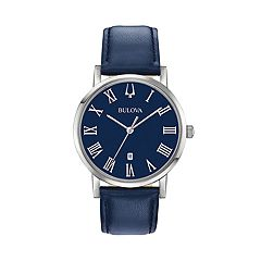 Bulova Men's Classic Slim-Profile Leather Watch - 96B295