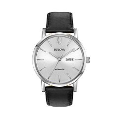 Bulova Men's Classic Leather Automatic Watch - 96C130