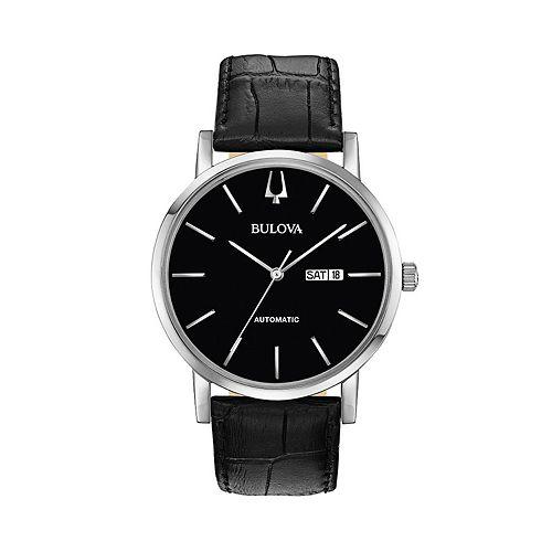 a93793d5c Bulova Men's Classic Leather Automatic Watch - 96C131