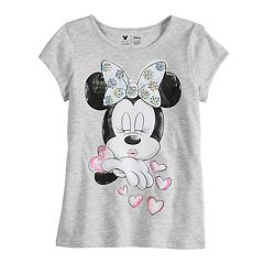 Disney Minnie Mouse Girls 4-7 Kissing Tee By Jumping Beans®