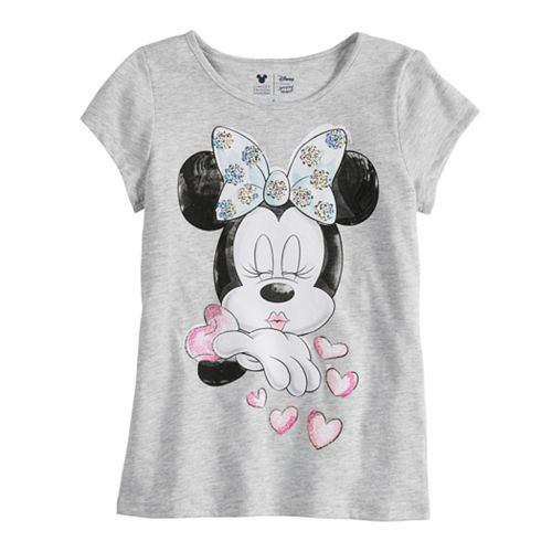 Disney Minnie Mouse Toddler Girls Kissing Tee By Jumping Beans®