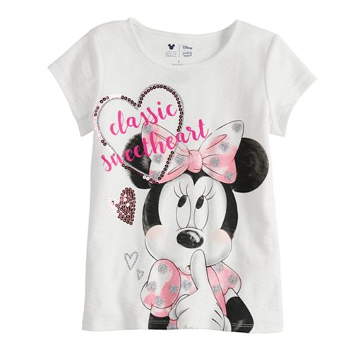 Disney Minnie Mouse Toddler Girl Sweetheart Tee By Jumping Beans®