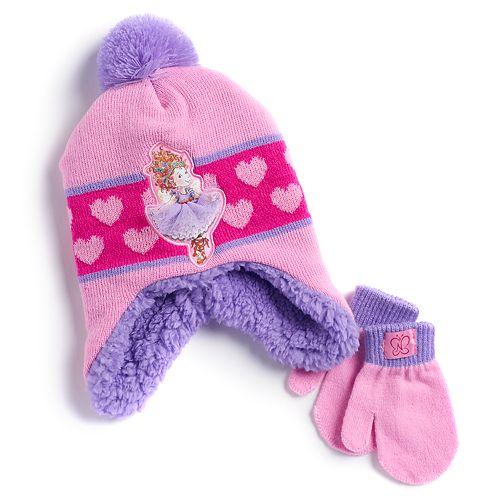 Disney's Fancy Nancy Toddler Girl Hat & Mittens Set