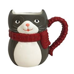 St. Nicholas Square® 3D Holiday Cat Mug