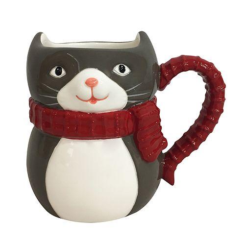 St. Nicholas Square® 3D Holiday Cat Mug