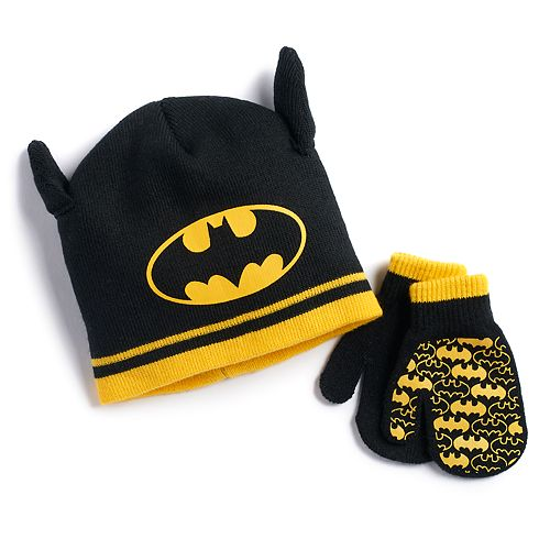 Toddler Boy DC Comics Batman Hat & Mittens Set