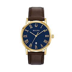 Bulova Men's Classic Slim-Profile Leather Watch - 97B177