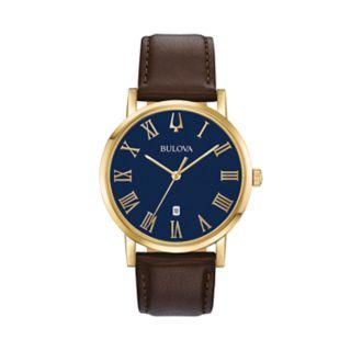 Bulova Men's Classic Slim-Profile Leather Watch - 97B177