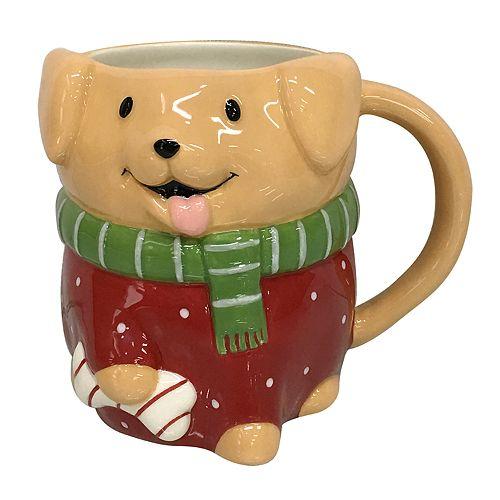 St. Nicholas Square® 3D Holiday Dog Mug